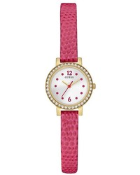 GUESS Pink And Gold Tone Petite Crystal Watch