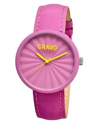 Crayo Pleats Watch With 3d Pleat Pattern Dial