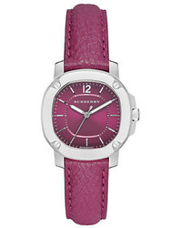 Burberry The Britain Pink Leather Strap Watch