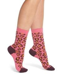 Paul Smith Edie Leopard Crew Socks