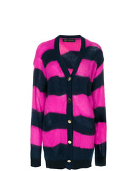 Versace Striped Button Up Cardigan