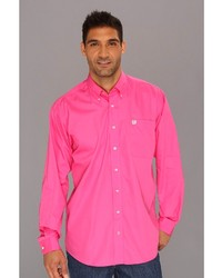 Pink Long Sleeve Shirt For Mens