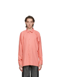 Issey Miyake Men Pink Flat Shirt