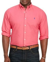 Polo Big And Tall Gart Dyed Cotton Shirt