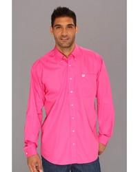 Hot Pink Long Sleeve Shirts for Men | Men's Fashion