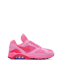 Comme des garons homme plus pink cdg x nike air max 180 sneakers medium 7186797