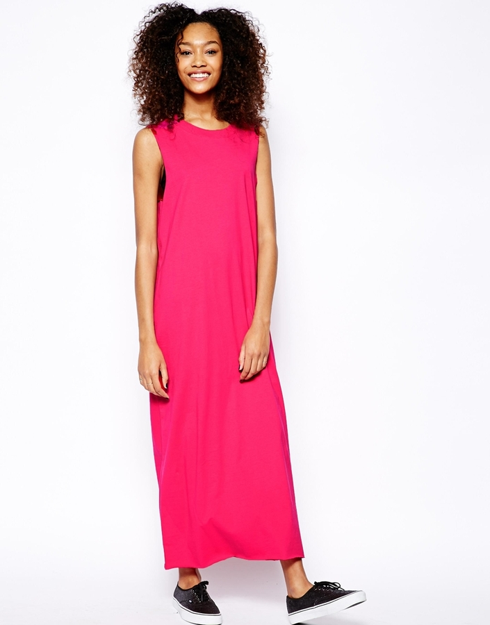 get online cost charm official images $23, Monki Sleeveless T Shirt Maxi Dress