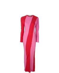 Striped fitted long dress medium 7694763