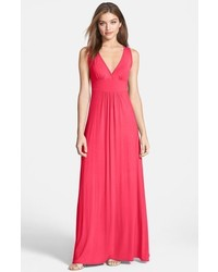 V neck jersey maxi dress medium 793645