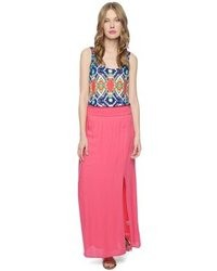 Hot pink maxi skirt original 4145293