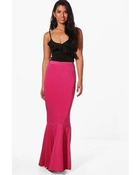 Nadia drop hem slinky maxi skirt medium 4907882