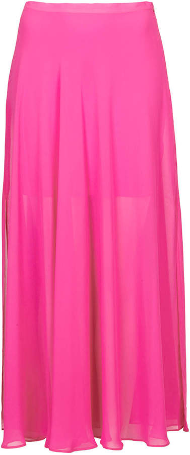 topshop pink chiffon maxi skirt where to buy how to wear