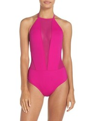 Ted Baker London Halter One Piece Swimsuit