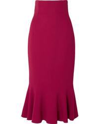 Dolce & Gabbana Fluted Cady Midi Skirt