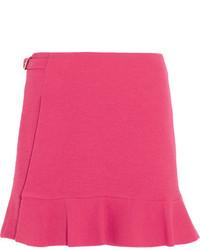 Boutique buckled crepe mini skirt fuchsia medium 3947183