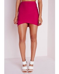 c3acda756b3a Missguided Bandage Asymmetric Hem Mini Skirt Pink, $30 | Missguided ...