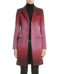 Versace Collection Degrade Wool Blend Coat