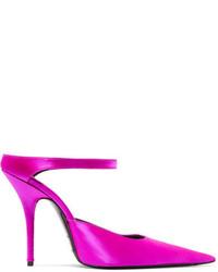 Balenciaga Satin Mules Pink