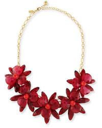 Kate Spade New York Crystal Flower Statet Necklace