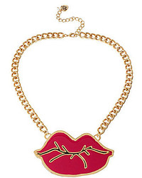 Betsey Johnson Lips Necklace