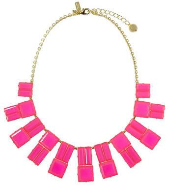 Kate Spade New York Accessories Pink Hot Chip Statet Necklace