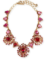 Tiered crystal necklace hot pink medium 3664910
