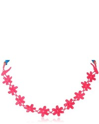 Steve Madden Woven Flower Stretch Necklace 20