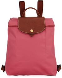 Longchamp Le Pliage Nylon Backpack Pink