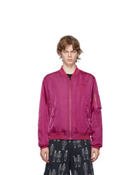 Moschino Pink Double Question Mark Bomber Jacket