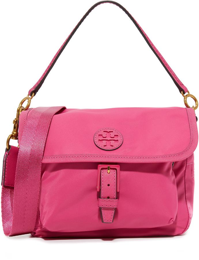 dd3a1ecfea9 ... Hot Pink Nylon Crossbody Bags Tory Burch Scout Nylon Cross Body Bag ...