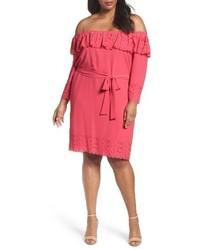 Hot pink off shoulder dress original 11469244