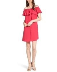 Off the shoulder crepe dress medium 5361202