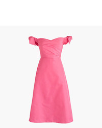 Petite off the shoulder strapless dress with ties in faille medium 3674179
