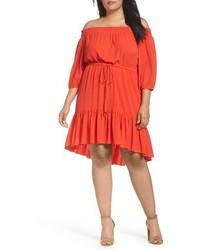 Plus size off the shoulder crepe dress medium 3992876