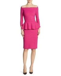 La Petite Robe di Chiara Boni Sina Peplum Sheath Off The Shoulder Dress