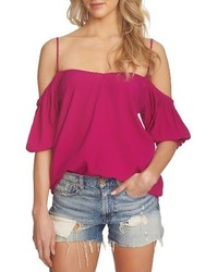 1state balloon sleeve off the shoulder top medium 3695064