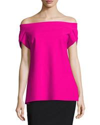 Chiara boni la petite robe maisie off the shoulder fluid jersey top medium 4106843
