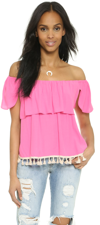 ce48f5c888d Misa Ruffle Off The Shoulder Top, $150 | shopbop.com | Lookastic.com