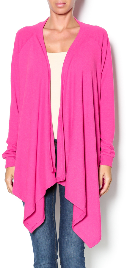 All For Color Pink Waterfall Cardigan | Where to buy & how to wear
