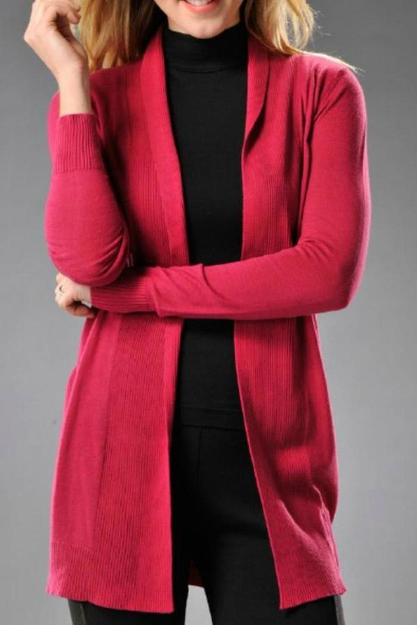 Charlie Paige Fuschia Cardigan Sweater | Where to buy & how to wear
