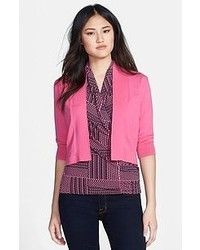 Chaus Open Front Cotton Cardigan