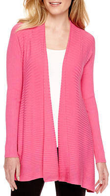3c7f3014001 Worthington Worthington Long Sleeve Open Front Cardigan