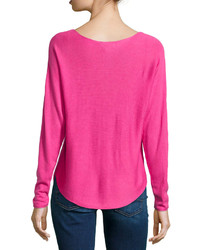 Neiman Marcus Dolman Sleeve Pullover Sweater Ginger Pink | Where ...