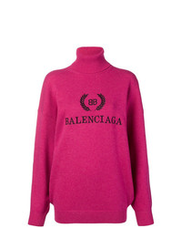 Balenciaga Logo Turtleneck Sweater