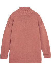 Alexander McQueen Oversized Cashmere Sweater Antique Rose
