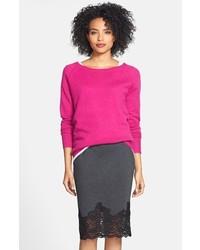 Halogen Solid Cashmere Sweater