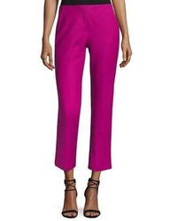 Armani Collezioni Tech Stretch Cotton Slim Cropped Pants