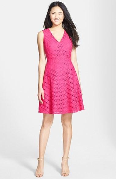 1d55a5fcaa0df Halogen Eyelet Fit Flare Dress, $118 | Nordstrom | Lookastic.com