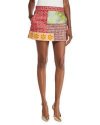 Moschino Boutique Patchwork Tweed Miniskirt