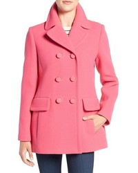 Hot Pink Pea Coat